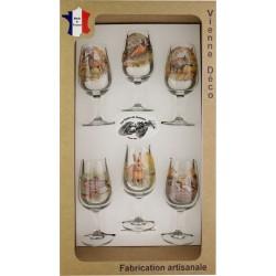 Coffret 6 verres à Vin INAO Sérigraphiés (Nouveaux Gibiers)