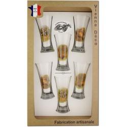 Coffret 6 verres à Pastis Sérigraphiés (Chasseurs Poils)