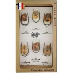 Coffret 6 verres à Vin INAO Sérigraphiés (Chasseurs Poils)
