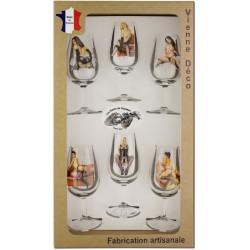 Coffret 6 verres à Vin INAO Sérigraphiés (Nus Coquins)