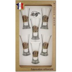 Coffret 6 verres à Pastis Sérigraphiés (Herissons)