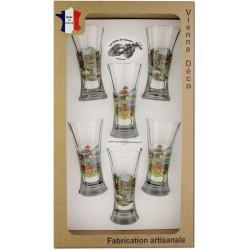 Coffret 6 verres à Pastis Sérigraphiés (Pêcheurs)