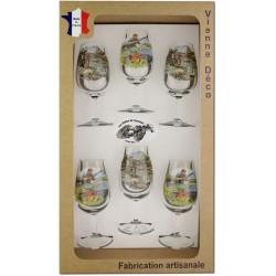 Coffret 6 verres à Vin INAO Sérigraphiés (Pêcheurs)