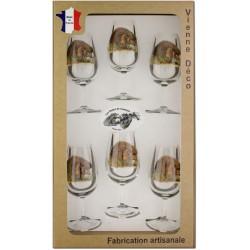 Coffret 6 verres à Vin INAO Sérigraphiés (Herissons)