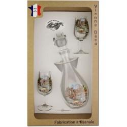 Coffret 2 verres à Vin INAO + Carafe Sérigraphiés (Pêche à la Truite)