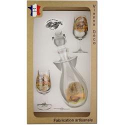 Coffret 2 verres à Vin INAO + Carafe Sérigraphiés (Chasseurs Poils)