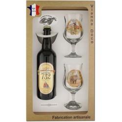 Coffret 2 verres à pied + Bière Blonde de Bellefois (Chasseurs Poils)